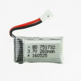 3.7 V 260 mah H8 lithium-polymeer high power li-po accu voor syma X8C X8W RC quadcopter - zilver