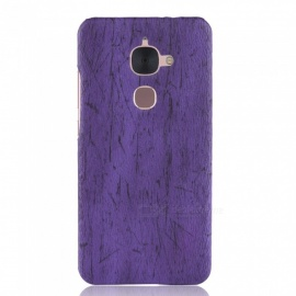 ASLING Wood Grain PC + PU Protective Phone Case for LeTV LeEco Le S3 X522/LeTV Le 2 X526 - Purple