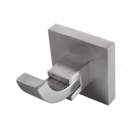 SUS 304 Stainless Steel Wall Mount Brushed Finish Bathroom Single Coat and Robe Hook