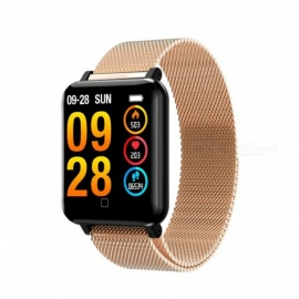 M19 Color Screen Smart Bluetooth Bracelet with Heart Rate / Blood Pressure / Blood Oxygen / Sleep Monitoring - Gold