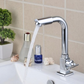 Special price 360 Degree Rotate Brass Single Cold Single Hole Bathroom and Kitchen Sink Faucet