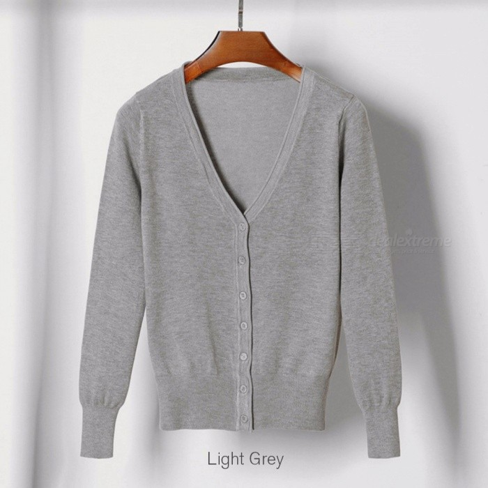 e5ccd6e3bf1 ... Women Cardigan Sweater V-neck Knitted Jacket Sweater Casual Pull Femme  Solid Loose Cardigans Womens