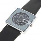 Unique Digital Turntable Style Water Resistant Quartz Wrist Watch - Black (1 x SR626)
