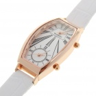 Special Double Quartz Movement Wrist Watch - Gold + White (1 x SR626)