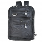 "Genuine Numanni Travel Backpack Double-Shoulder Bag for 14.1"" Laptop (Black)"