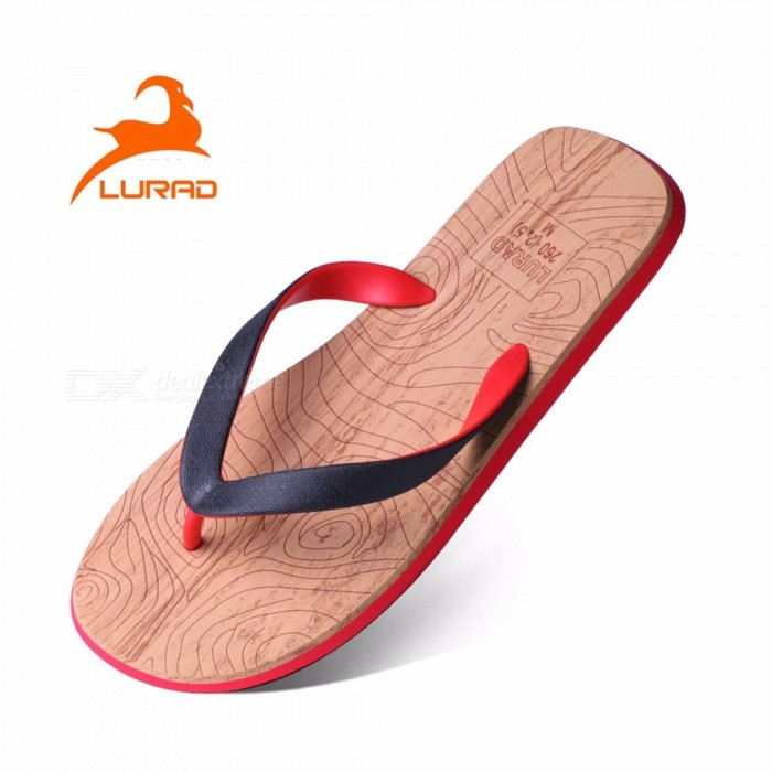 dfde36f99aa3fd Fashion Men Print Wood Paisley Sandals Classical EVA Rubber Slippers Mens  Flip Flops L028AM Red 44