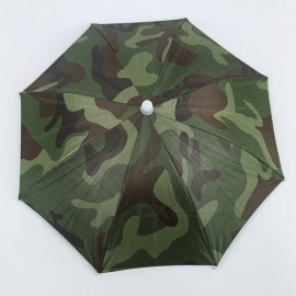 Portable Head Umbrella Hat Fishing Caps Anti-Rain Sunproof Outdoor Umbrella Cap For Adults Children Unisex Camouflage Camouflage
