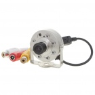 Mini Surveillance Security AV Camera with 7-LED Night Vision (DC 9V)