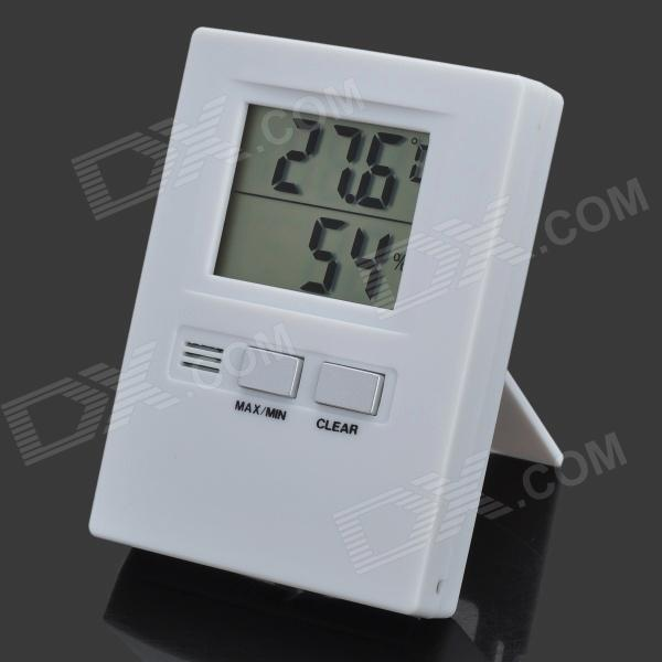 "1.8"" LCD Digital Thermometer and Hygrometer - White (1 x AAA)"