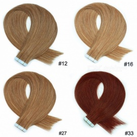 20PCS/Set 18 Inches Soft Straight Tape In Human Hair Extensions For Women 40g/Set #12/18 inches/20 pcs