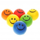 Smile Face Relax Stress Relief Balls Squeezable Toys - Color Assorted (6-Piece Pack)