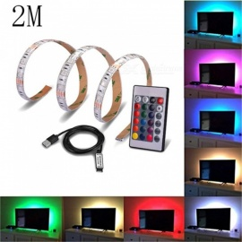 USB 2 Meter TV Background 5V RGB 5050-60 LED Waterproof Light