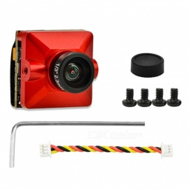 "Cámara de lente FPV 700TVL 1/3"" SONY SUPER HAD II CCD 2.3mm para FPV RC 135 155mm drone quadcopter - rojo"