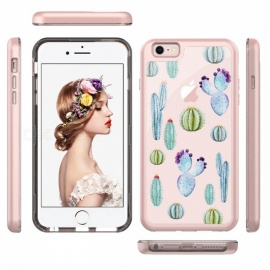 JEDX mønsterutskrift PC + TPU combo mobil etui til IPHONE 6s pluss / 6 pluss 5,5 tommer