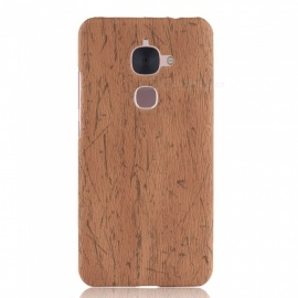 ASLING Wood Grain PC + PU Protective Phone Case For LeTV LeEco Le S3 X522/LeTV Le 2 X526 - Brown