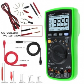 AN870 19999 Counts Auto Range Digital Precision Multimeter True-RMS NCV Ohmmeter AC/DC Voltage Ammeter Transistor Tester - Green