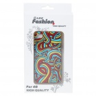 Fashion Back Case + Screen Guard + Cleaning Cloth Set for Iphone 4 - Colors Ribbons Pattern