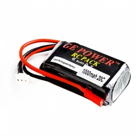 GE POWER 1PCS 7.4V 20C 1000mah JST högt lipo batteri för RC helikopter quadcopter