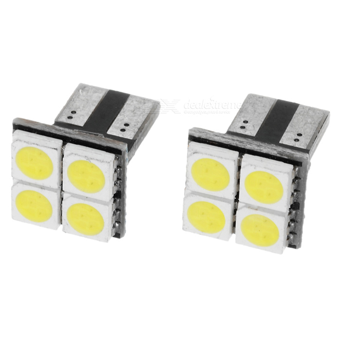 T10 0.6W 40-50LM 4-LED 5050 SMD LED Car Turning Signal Light Bulbs (12V/Pair)