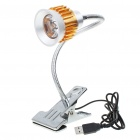 USB High Brightness Flexible White LED Clip Lamp Light