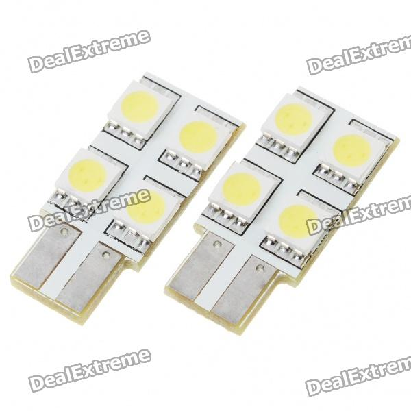 T10 0.6W 60-70LM 4-LED 5050 SMD LED Car Turning Signal Light Bulbs (12V/Pair) carprie super drop ship new 2 x canbus error free white t10 5 smd 5050 w5w 194 16 interior led bulbs mar713