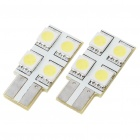 T10 0.6W 60-70LM 4-LED SMD 5050 Car LED Turning sinal lâmpadas (12V / Pair)