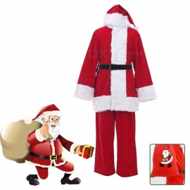 M1001-1 Santa Claus Cosplay Costume, A Full Set Of Christmas Costumes