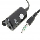 Trendy Earphone with Microphone & Clip - Black (2.5mm Jack/130CM-Cable)