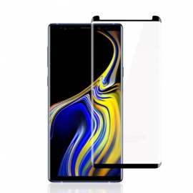 3D Curved Surface Tempered Glass Protector for Samsung Galaxy Note 9 - Black