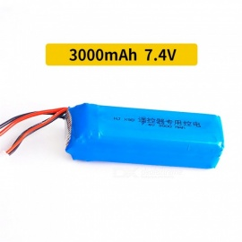 7.4V 3000mAh JST Plug FRSKY X9D PLUS High Lipo Battery for RC Helicopter Quadcopter