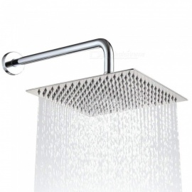 Solid Square Ultra Thin 304 Stainless Steel 10 Inches Adjustable Rain Shower Head with Polish Chrome