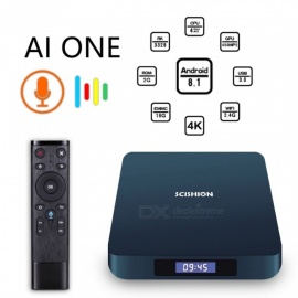 AI ONE 8.1 android 8.1 RK3328 caja de TV TV inteligente con 2GB de RAM, 16GB ROM - Enchufe de la UE