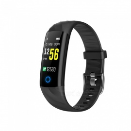 S5 Bluetooth Smart Bracelet IP68 Waterproof Support Heart Rate Blood Pressure Oxygen Monitoring - Black