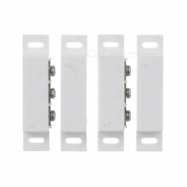 MC-31B 2 Sets Normally Closed / Open Magnetic Door Contact Reed Switches - White