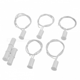RC-33 5PCS Wired Door Magnetic Reed Switches Alarms Set - White