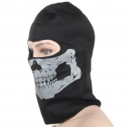 Cool Reflective Headgear Mask - Black + Dark Silver