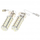 H3 3.5W 6500K 310-Lumen 68x3528 SMD LED White Fog Lights for Car (Pair/DC 12V)