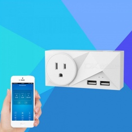 alexa wifi smart stickkontakt 2.1A wifi sockel smart hemmabiouttag EU / US / UK plug UK plug / white