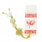 Cool Porcelain Style USB 2.0 Flash Drive - White + Red (2GB)