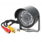 Mini Surveillance Security AV Camera with 30-LED Night Vision (DC 6~9V)