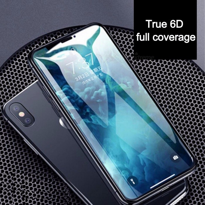 HD 6D Full Coverage Curved Tempered Glass Screen Protector Film For IPHONE  X 968a7f6163da7