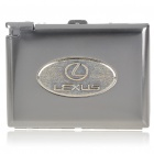 2-in-1 Cigarette Case with Butane Lighter - Lexus (Holds 20 Cigarettes)