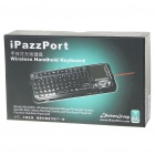 USB Rechargeable Handheld 2.4G Wireless Qwerty Keyboard w/ Touchpad & Laser Pointer