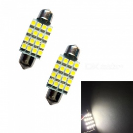 HONSCO 2PCS feston 39mm 16SMD 3528 6500K 1W blanc froid liseuses