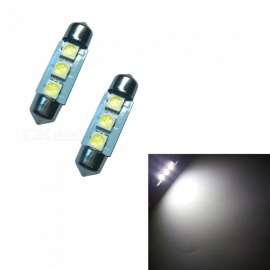 HONSCO 2PCS Festoon 36mm 3SMD 5050 6500K Cold White 1W Reading Lamps DC12V