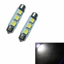 HONSCO 2PCS Festoon 41mm 3SMD 5050 6500K 1W Reading Lamp Cold White DC12V