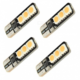 HONSCO 4PCS T10 6x5050 SMD LED Warm White Car Reading Light License Plate Lights Width Lights DC12V