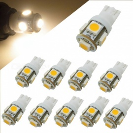 HONSCO 10PCS W5W T10  5SMD 5050 LED 12V 1W Cold White Car Backup Lamps (10PCS)