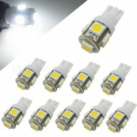 HONSCO 10PCS W5W T10 5SMD 5050 LED DC24V 1W Cold White Car Backup Lamps