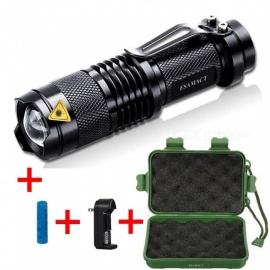 ESAMACT Adjustable Focus Mini Flashlight, CREE T6 2000 Lumens LED Torch Lantern with Battery and Charger